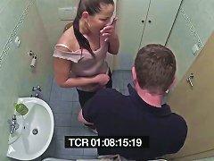 DrTuber Video - Brunette Patient Getting Fucked In The Bathroom