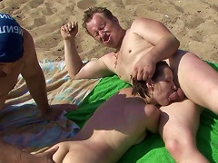 XBabe Video - Outdoor Trio Along Steamy Chick